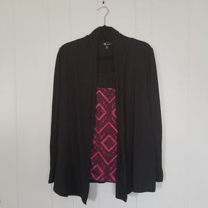 AB Studio One Piece Top Cardigan & Shirt in One